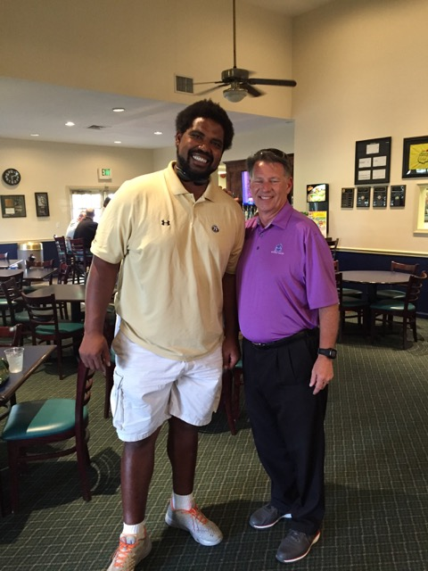 NFL Hall of Fame member, Baltimore Raven player Jonathan Ogden